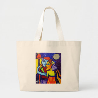Young Love by Piliero Large Tote Bag