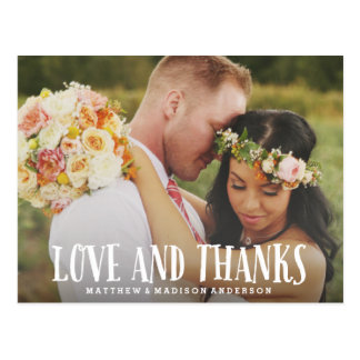 Young Love | Wedding Thank You Postcard