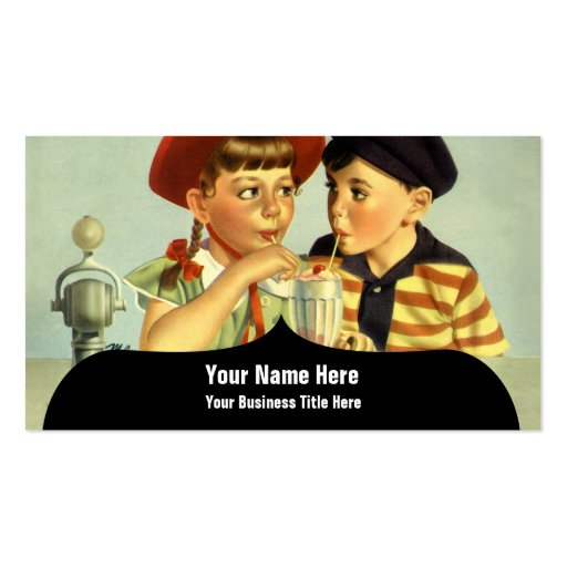Young Lovers Vintage Illustration Double-Sided Standard Business Cards (Pack Of 100)
