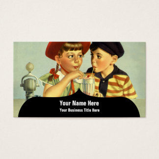 Young Lovers Vintage Illustration Business Card