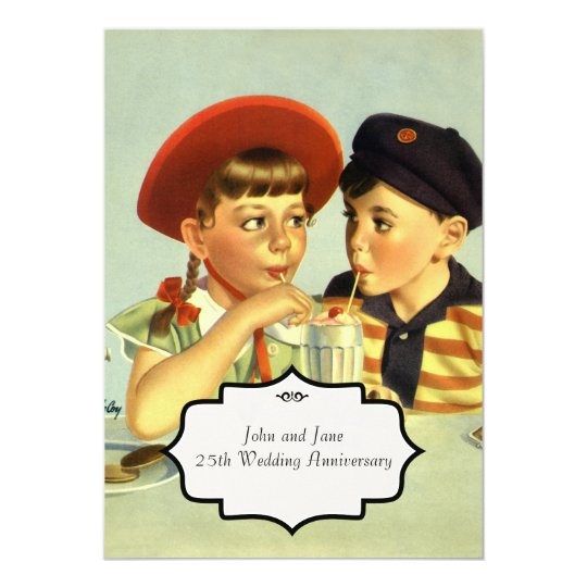 Young Lovers Vintage Illustration Card
