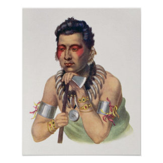 Young Ma-Has-Ka, Chief of the Iowas Poster