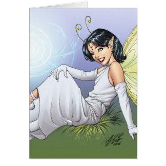 Young Magical Elf Fairy by Al Rio Card