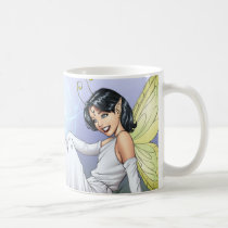 girl, magic, magical, elf, fairy, faerie, comic, art, al rio, anntennae, butterfly, wings, angel, dress, wizards, witches, Mug with custom graphic design