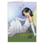 Young Magical Elf Fairy by Al Rio Greeting Card