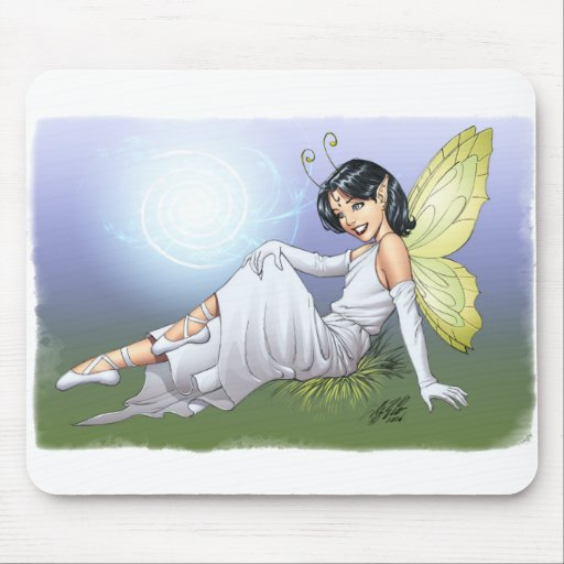 Young Magical Elf Fairy by Al Rio Mouse Pads