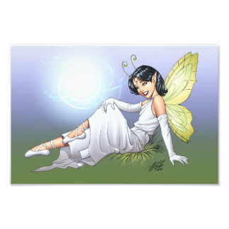 Young Magical Elf Fairy by Al Rio Photo Print
