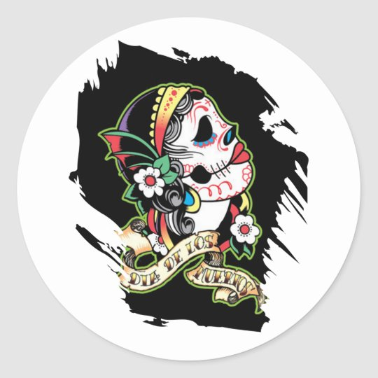 Young Maiden Classic Round Sticker