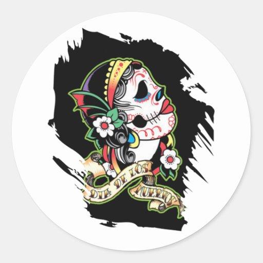 Young Maiden Round Sticker