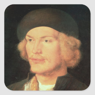 Young Man, 1507 Square Sticker
