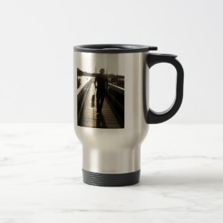 Young Man and his German Shepherd Puppy Travel Mug