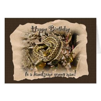 Young Man Birthday - Eastern Garter Snake Greeting Card