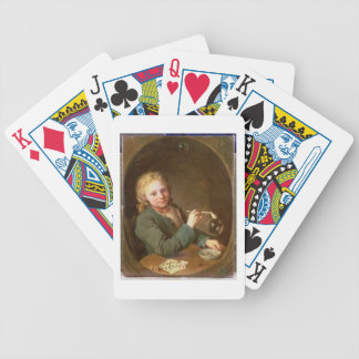 Young Man Blowing Bubbles from a Clay Pipe, 1766 Bicycle Playing Cards