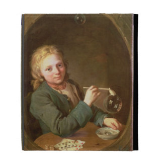 Young Man Blowing Bubbles from a Clay Pipe, 1766 iPad Folio Covers