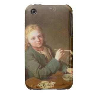 Young Man Blowing Bubbles from a Clay Pipe, 1766 iPhone 3 Case-Mate Cases