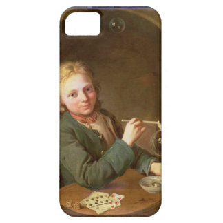 Young Man Blowing Bubbles from a Clay Pipe, 1766 iPhone SE/5/5s Case