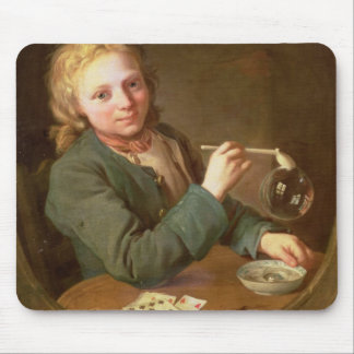 Young Man Blowing Bubbles from a Clay Pipe, 1766 Mouse Pad