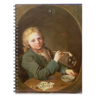 Young Man Blowing Bubbles from a Clay Pipe, 1766 Notebook