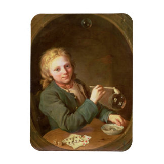 Young Man Blowing Bubbles from a Clay Pipe, 1766 Rectangular Photo Magnet
