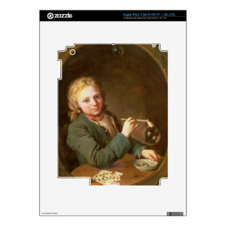 Young Man Blowing Bubbles from a Clay Pipe, 1766 Skin For iPad 3