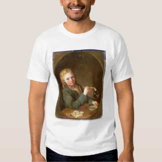 Young Man Blowing Bubbles from a Clay Pipe, 1766 T-shirt