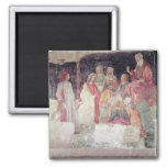 Young Man Greeted by Seven Liberal Arts 2 Inch Square Magnet