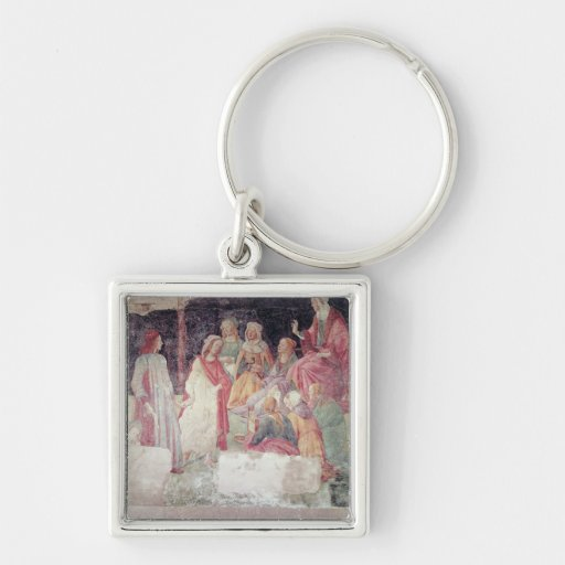 Young Man Greeted by Seven Liberal Arts Keychain