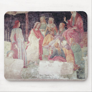 Young Man Greeted by Seven Liberal Arts Mouse Pad