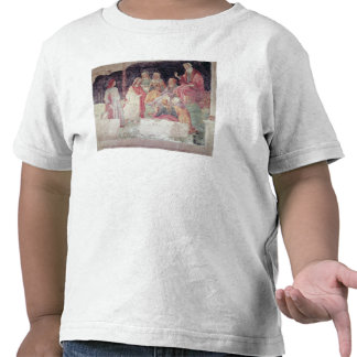 Young Man Greeted by Seven Liberal Arts Shirts