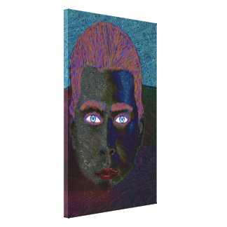 Young Man Head Above Water Line Canvas Print