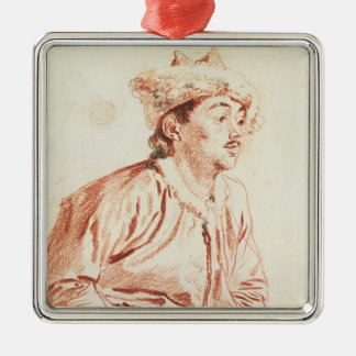Young Man in Oriental Costume (drawing) Metal Ornament