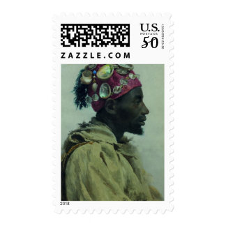 Young Man in Profile (Profil aux coquillages) Postage