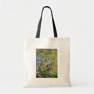 Young Man In The Forest Of Fontainebleau Canvas Bags