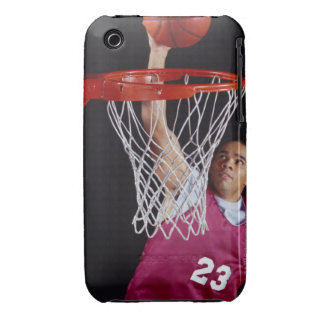 Young Man Making a Basket iPhone 3 Case-Mate Cases
