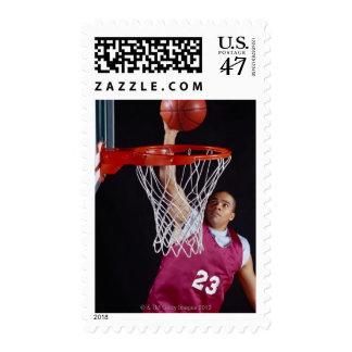 Young Man Making a Basket Postage Stamp