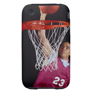 Young Man Making a Basket Tough iPhone 3 Covers