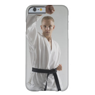 Young man performing karate stance on white barely there iPhone 6 case