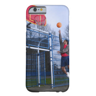Young man playing basketball outdoors barely there iPhone 6 case