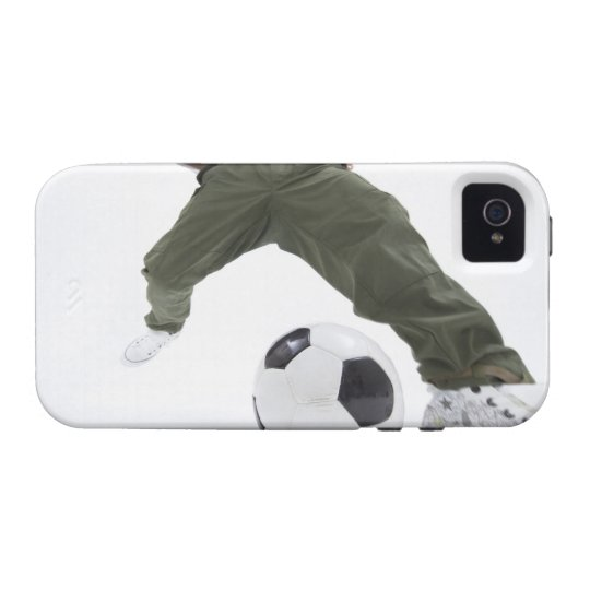 Young man playing soccer 2 Case-Mate iPhone 4 cover