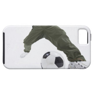 Young man playing soccer 2 iPhone SE/5/5s case