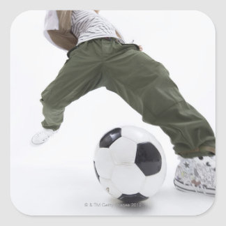 Young man playing soccer 2 sticker