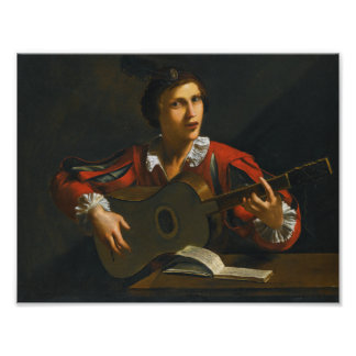 Young Man Playing the guitar, paolini pietro Poster