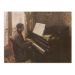 Young Man Playing the Piano by Gustave Caillebotte Postcards