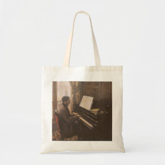 Young Man Playing the Piano by Gustave Caillebotte Tote Bag