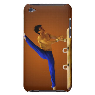 Young man practicing gymnastics on the pommel iPod touch case