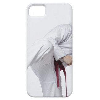 Young man practicing side kick iPhone SE/5/5s case