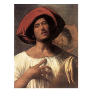 Young man (The impassioned singer)  by Giorgione Postcard