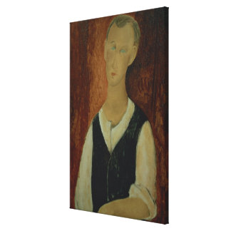Young Man with a Black Waistcoat, 1912 (oil on can Canvas Print