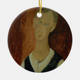 Young Man with a Black Waistcoat, 1912 (oil on can Ceramic Ornament