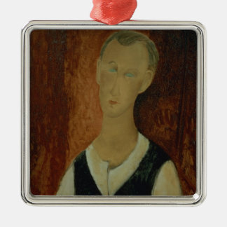 Young Man with a Black Waistcoat, 1912 (oil on can Metal Ornament